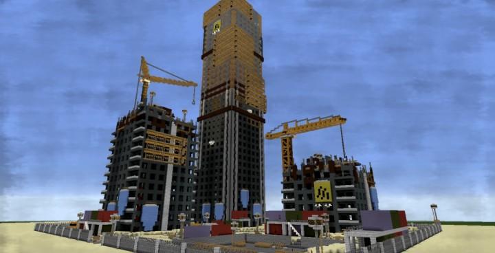 Dying light rais 39 base skyscrapper construction site minecraft project - Video minecraft construction ...