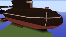 Russian Submarine Project 949A Oscar II K-141 Kursk huge scale by RewolutionPL Minecraft