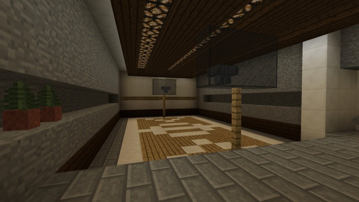 Modern redstone smart house minecraft project for Personal basketball court