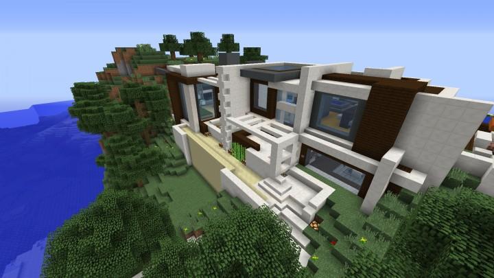 Modern redstone smart house minecraft project for Minecraft modernes redstone haus download