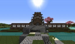 Medieval Japanese Castle Minecraft Map & Project