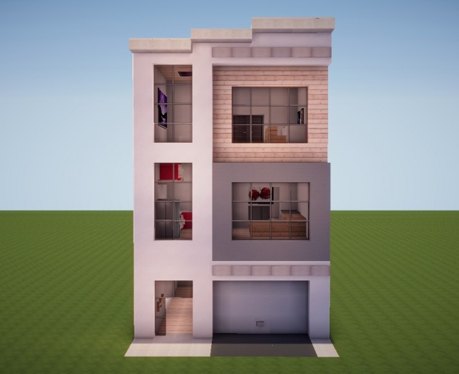 Poprell Modern Townhouse 1 Minecraft Project