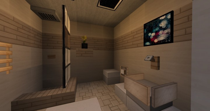 Designs 5 x 5 bathrooms minecraft project for Minecraft bathroom ideas