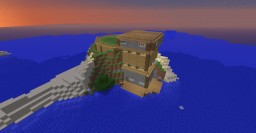 Private Island Beach House Minecraft Map & Project