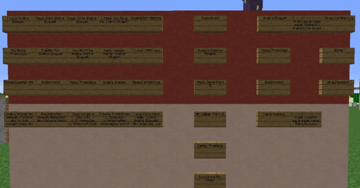 My Credits for Indira Ekayati and etc on Indonesian Flag Wall