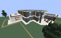 Minecraft 1.8 Modern House Minecraft Map & Project