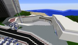 Futuristic Store And Court Yard Minecraft Map & Project
