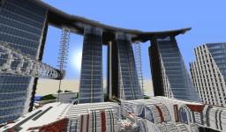 Futuristic Spawn Building Minecraft Map & Project