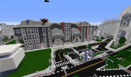 Futuristic Train Station Minecraft Map & Project