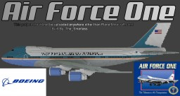 Air Force One [Boeing 747-200B] Minecraft Map & Project