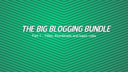 The Big Blogging Bundle - Titles, Thumbnails and Basic Rules Minecraft Blog