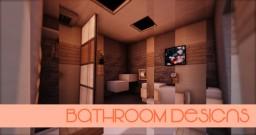 [ Designs ] - 5 x 5 Bathrooms Minecraft Map & Project