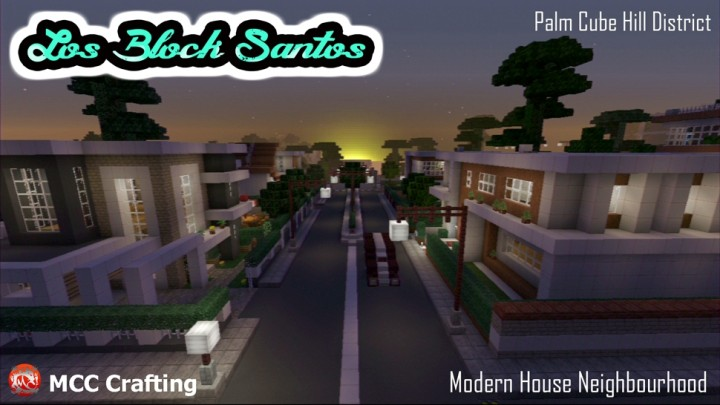 Modern House Neighbourhood, Palm Cube Hill, Los Block Santos