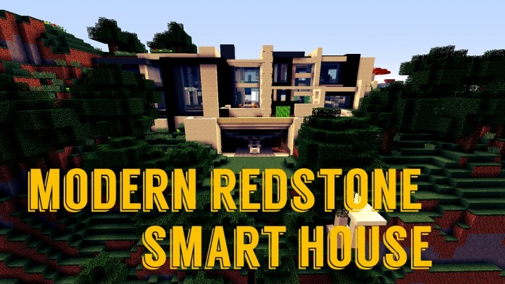 Modern Redstone Smart House Minecraft Project