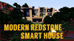 Modern Redstone Smart House Minecraft Map & Project