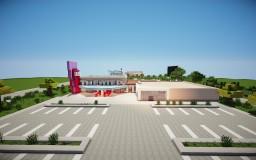 Small cinema+ Shops and Outside Cinema! Minecraft