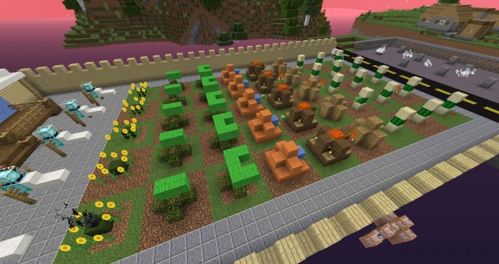 how to build plants vs zombies in minecraft