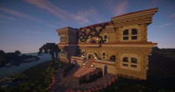 Mediterranean Mansion (Collaboration with Lollipopchan) Minecraft Project