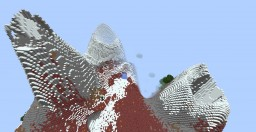 Custom Terrain: Volcano Island Minecraft Map & Project