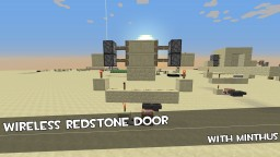 wireless piston door Minecraft Map & Project