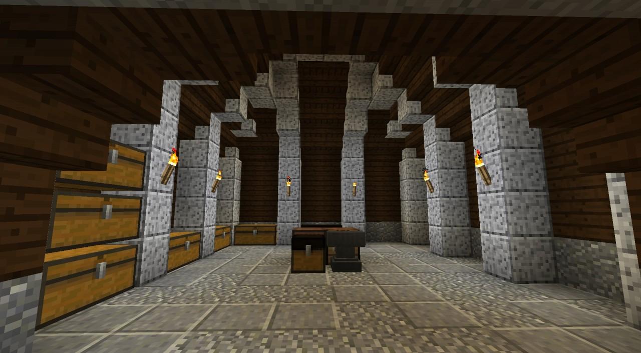 Underground Storage Room Vanilla Minecraft Project