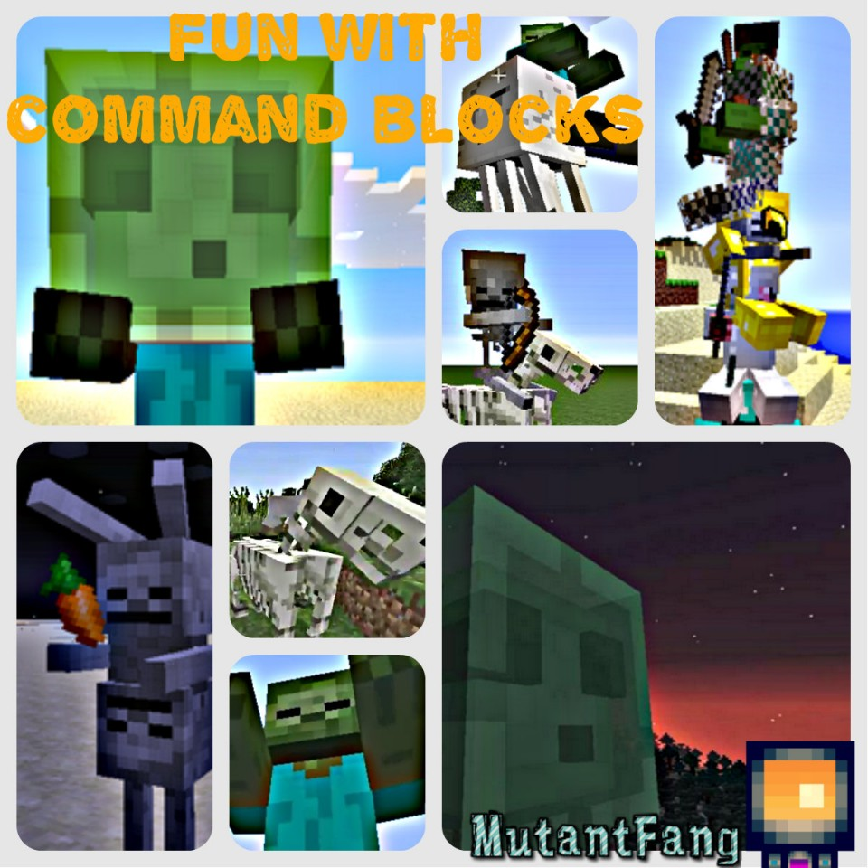 Fun with command blocks! (1 8+) ( Over 30+ Secret/unique commands