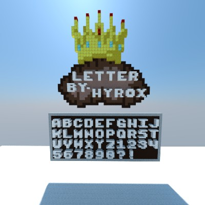Letters and numbers 3x3 download minecraft project for Porte 3x3 minecraft