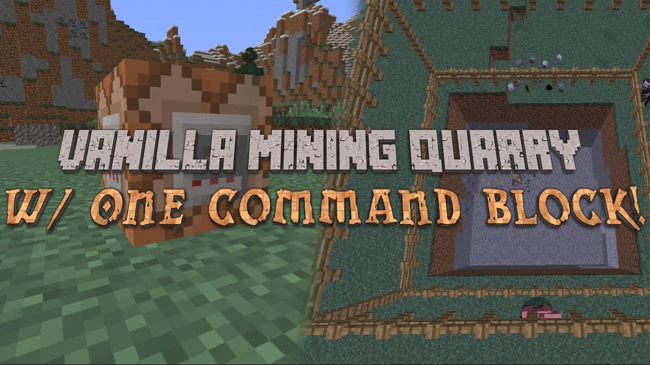 Vanilla Mining Quarry - One Command Block Minecraft Blog