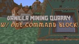 Vanilla Mining Quarry - One Command Block Minecraft Blog Post