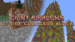 Amazing Giant Rainbows - One Command Block Creation Minecraft Blog Post