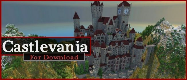 Castlevania World Map.Large Castle From Game Castlevania For Download Map Schematic