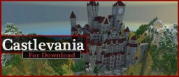 """Large castle from game """"Castlevania"""" for download (map + schematic) Minecraft"""