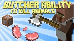 Minecraft Butcher Killing Animals Ability - Command Block Creation ALL VANILLA Minecraft