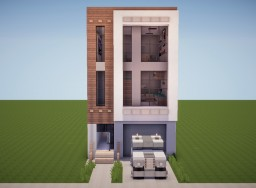 [Popreel] Modern Townhouse #3 Minecraft Map & Project