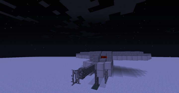 The Droid Gunship had detailed guns
