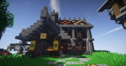 Small Medieval Forge Minecraft Project