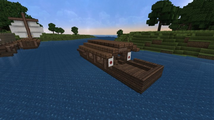 Japanese Fishing Boat Minecraft Project