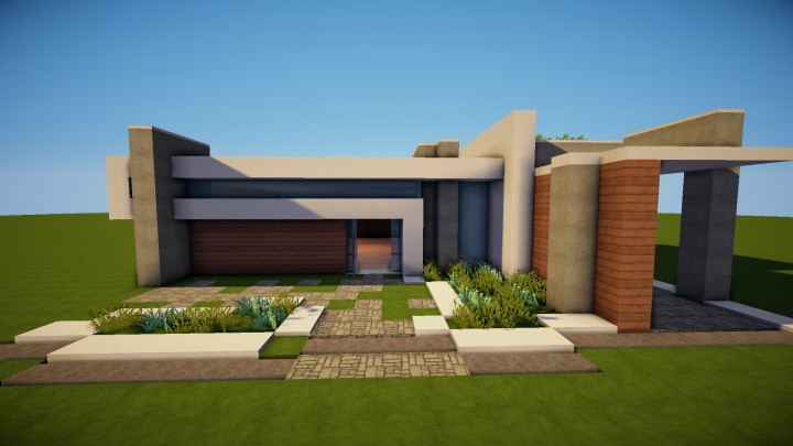 Modern house for lack of a better name minecraft project for Modern house names