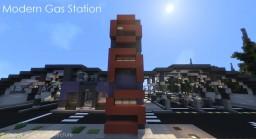 Modern Hi-Tech Gas Station Minecraft Map & Project