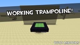 Working Trampoline In Minecraft Minecraft Blog Post