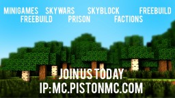 Minecraft 1.8/1.9/1.10/1.11 Server (IP: MC.PISTONMC.COM) Minecraft