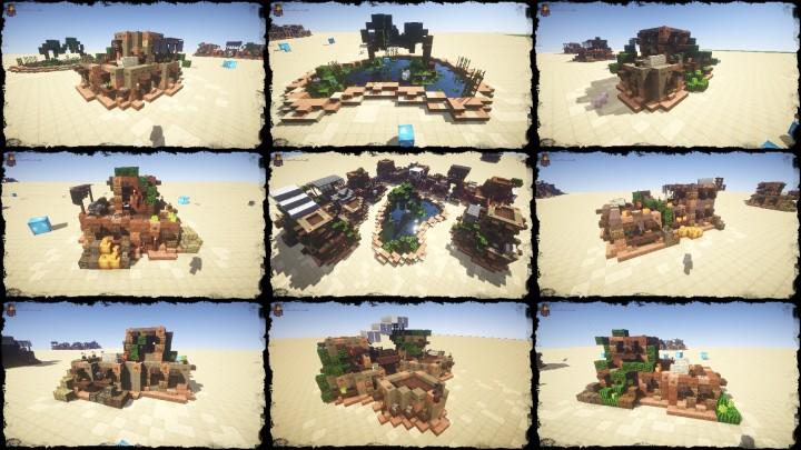My Second Desert House Bundle DOWNLOAD Minecraft Project - Minecraft 3 kleine hauser