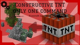 Minecraft Constructive TNT with ONLY ONE COMMAND | Forest theme Minecraft