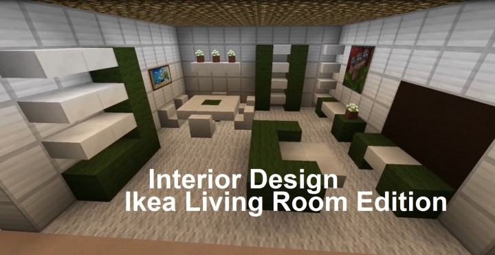 Minecraft Interior Design Ikea Living Room Edition Minecraft Project