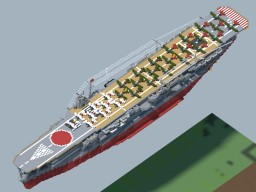 IJN CV Kaga (Remake)(1942) Minecraft Map & Project