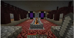 Survival Underground Nether Base Minecraft Map & Project