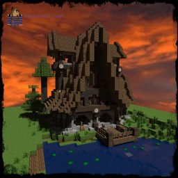 A kind of Medieval Fantasy House in the Woods. [DOWNLOAD] Minecraft Map & Project