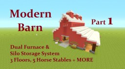 Tutorial : Modern Barn ... Check it Out Minecraft