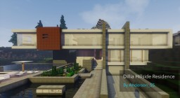 Dillia Hillside Residence |A Modern House By Anderson_55 Minecraft Map & Project