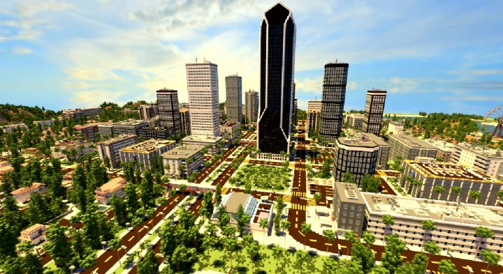 LOS ANGELCRAFT (Huge City inspired by Los Angeles) Minecraft Project